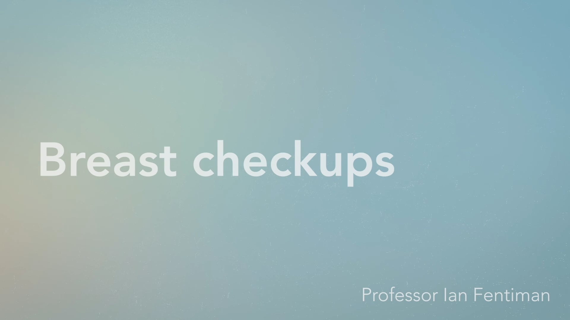 Breasts check ups - Vimeo thumbnail